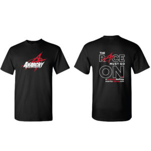 anarchy no prep-no prep drag racing- racing- no prep racing - the race must go on- 2018 t shirt